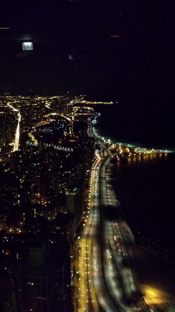 Chicago at night - Lake