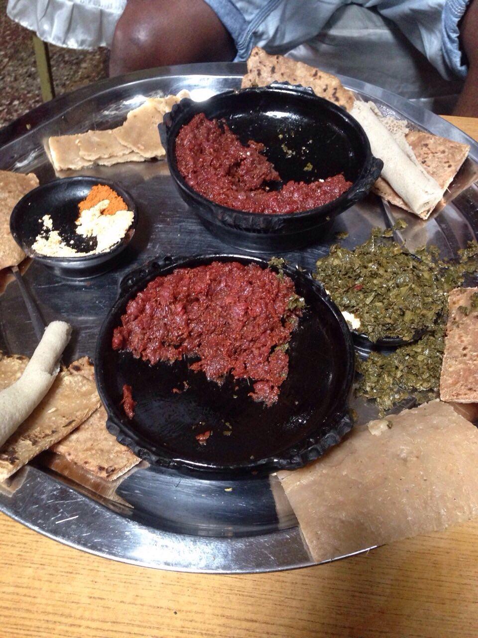 Ethiopia dish kitfo